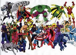 Tous les Vengeurs: Captain America,Iron man,Hulk,Thor,Hawkeye,Vision,la Sorcière Rouge,la Veuve Noire,Vif-Argent,la Panthère Noire, le Fauve