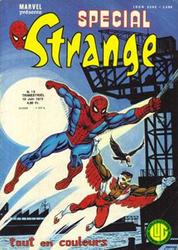 Spécial Strange 16 de Lug avec les X-Men, l'Araignée, le Faucon, la Chose et Thor