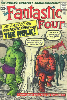 The Fantastic Four 12 avec Hulk