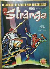 Strange 137 de Lug avec Daredevil, Iron Man, Spider-Man et Rom