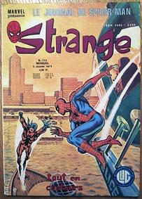 Strange 109 des éditions Lug avec Daredevil, Iron Man et Spider-Man