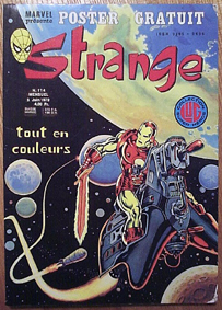 Strange 114 de Lug avec Daredevil, Iron Man et Spider-Man