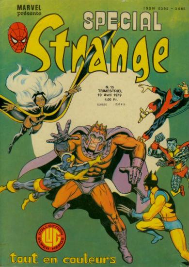 Spécial Strange 15 de Lug avec les X-Men, l'Araignée, Daredevil, Hercule, la Chose et Doc Savage