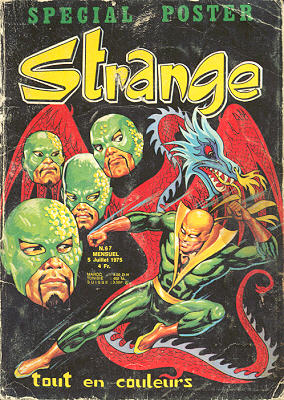 Strange 67 de Lug avec Captain Marvel, Daredevil, Iron Fist et Spider-Man